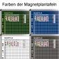 Klassen-Plantafel, 10 Stunden Mo-Fr, für 15 Klassen, 103x77 cm,